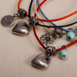Bohemian Retro Style Heart Shape Multi-Layered Bracelet - COLORMIX