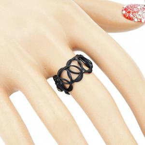 Simple Hollow Out Black Necklace and Ring and Bracelet For Women -