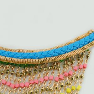 Bohemia Beads Layered Tassel Necklace For Women -