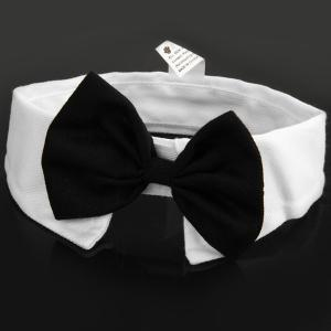 Pet Supplies Cats Dog Bow Tie Collar with Bowknot Design Wedding Holiday Decoration - Colormix - No.05