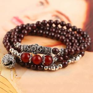 Classic Beads Layered Bracelet For Women - COLORMIX