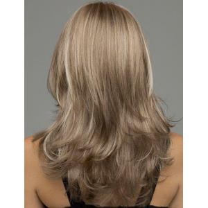 Noble Glossy Natural Wave Capless Heat-Resistant Synthetic Wig For Women -