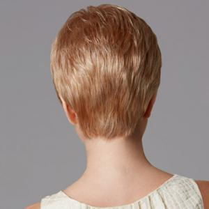 Charming Sexy Short Straight Full Bang Heat Resistant Capless Women's Synthetic Blonde Wig -