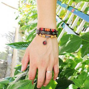 Cute Colored Beads Decorated Layered Bracelet For Women -