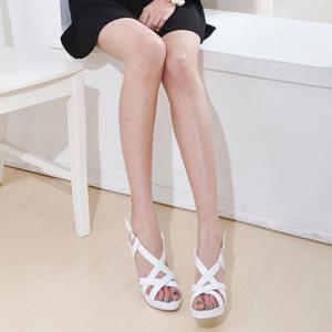 Simple Style Solid Color and Criss-Cross Design Women's Sandals -