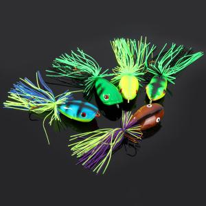 Yoshikawa 5pcs Lifelike Frog Shaped Hard Fishing Lure 10cm Bait with Hooks