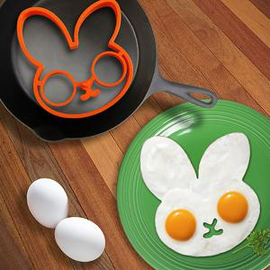Cute Rabbit Silicone Egg Mold Ring Cooking Tools Fried Egg Kitchen Gadgets - ORANGE
