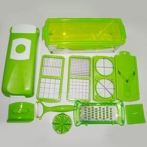 12Pcs Vegetable Fruit Peeler Cutter Multi Chopper Slicer Fruit Kitchen Tools Set - GREEN