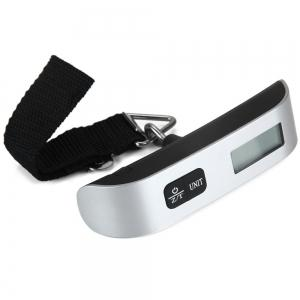 Hostweigh NS-14 LCD Mini Luggage Electronic Scale Thermometer 50kg Capacity Digital Weighing Device -