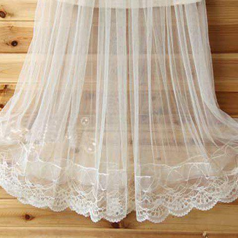 Shops See-Through Tulle Overlay Skirt - ONE SIZE(FIT SIZE XS TO M) WHITE Mobile