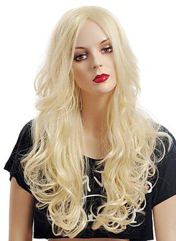 Outfits Fashion Fluffy Long Big Curly Heat-Resistant Glonde Blonde Capless Women's Synthetic Hair Wig GOLDEN