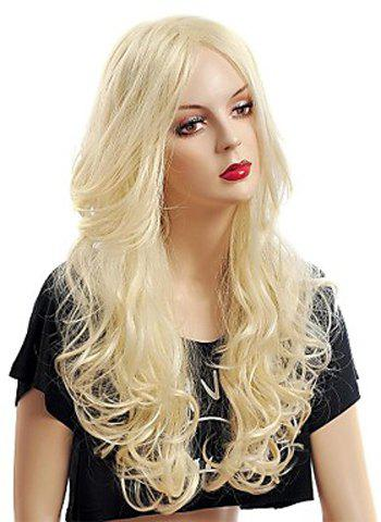 Fancy Fashion Fluffy Long Big Curly Heat-Resistant Glonde Blonde Capless Women's Synthetic Hair Wig - GOLDEN  Mobile