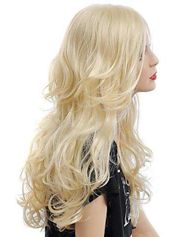 Shops Fashion Fluffy Long Big Curly Heat-Resistant Glonde Blonde Capless Women's Synthetic Hair Wig - GOLDEN  Mobile