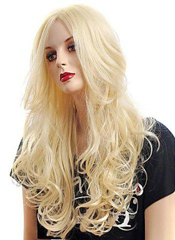 Best Fashion Fluffy Long Big Curly Heat-Resistant Glonde Blonde Capless Women's Synthetic Hair Wig - GOLDEN  Mobile
