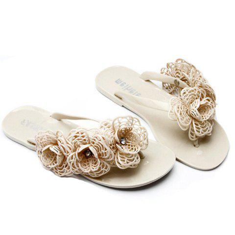 Best Graceful Flip-Flop and Flowers Design Women's Slippers