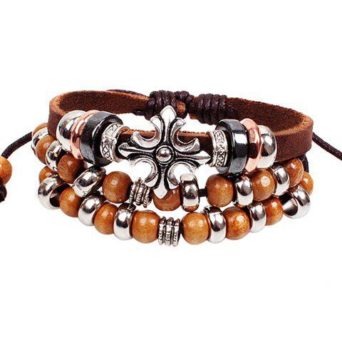 Shops Ethnic Beads Cross Layered Chain Bracelet For Women