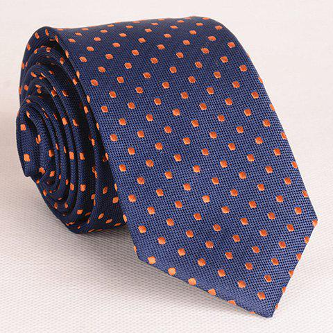 Outfit Simple Style Embroidered Polka Dot Embellished Thin Neck Tie For Men - PURPLISH BLUE  Mobile