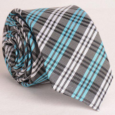 Hot Fresh Style Colorful Stripe and Plaid Pattern Neck Tie For Men CHECKED