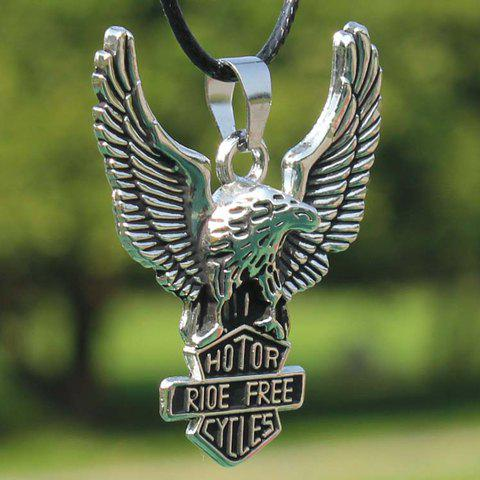 Chic Modern Eagle Pendant Necklace For Men WHITE
