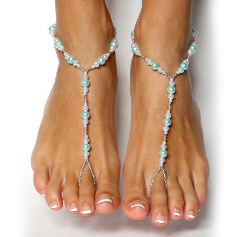 Unique ONE PIECE Stylish Faux Pearl Decorated Women's Anklet