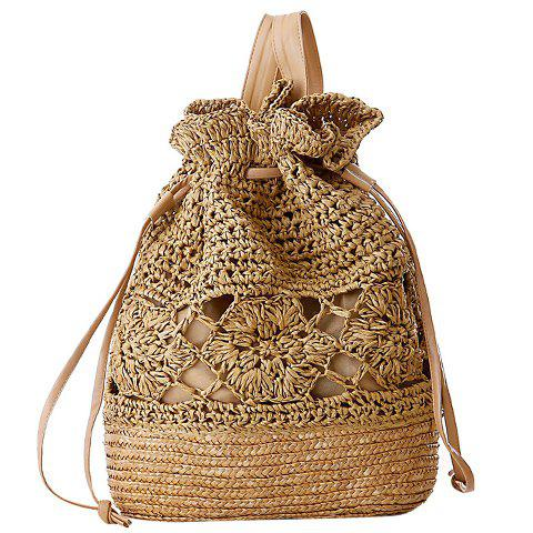 Online Preppy Hollow Out and Weaving Design Women's Satchel