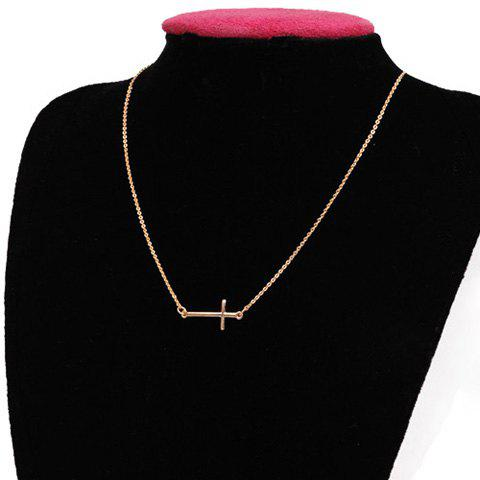 Unique Chic Cross Shape Pendant Design Necklace For Women