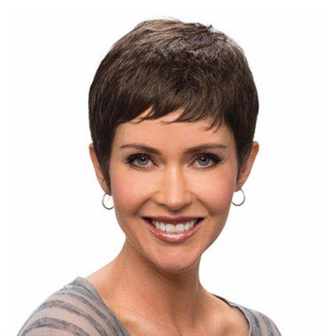 Latest Super Short Curly Heat-Resistant Capless Full Bang Fashion Sexy Women's Synthetic Black Wig