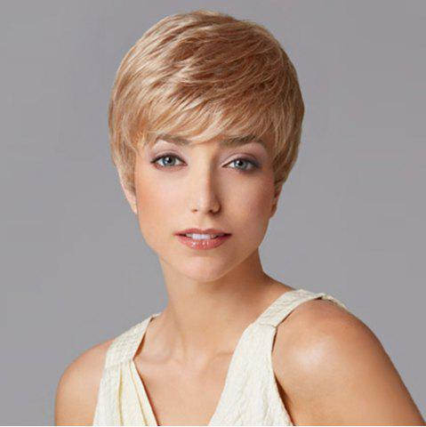 Buy Charming Sexy Short Straight Full Bang Heat Resistant Capless Women's Synthetic Blonde Wig