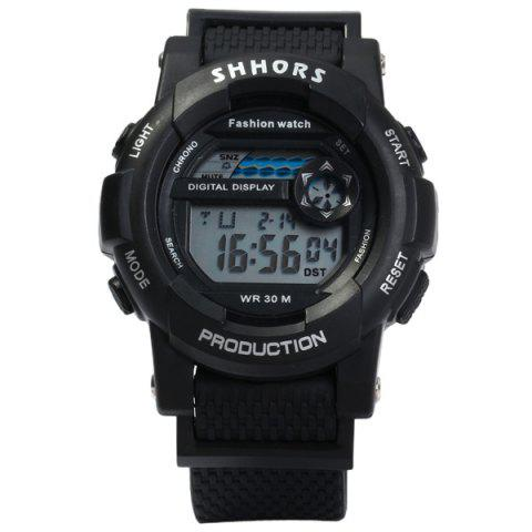 Outfits Shhors 833 Military LED Watch Sports Wristwatch with Day Date Alarm Function Water Resistance Rubber Band -   Mobile