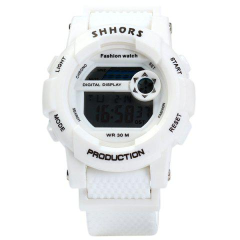 Online Shhors 833 Military LED Watch Sports Wristwatch with Day Date Alarm Function Water Resistance Rubber Band -   Mobile