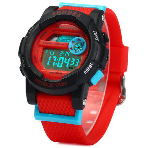 Shops Shhors 833 Military LED Watch Sports Wristwatch with Day Date Alarm Function Water Resistance Rubber Band -   Mobile