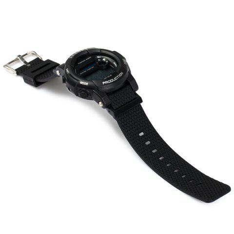 Hot Shhors 833 Military LED Watch Sports Wristwatch with Day Date Alarm Function Water Resistance Rubber Band -   Mobile
