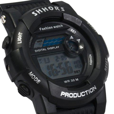 Cheap Shhors 833 Military LED Watch Sports Wristwatch with Day Date Alarm Function Water Resistance Rubber Band -   Mobile