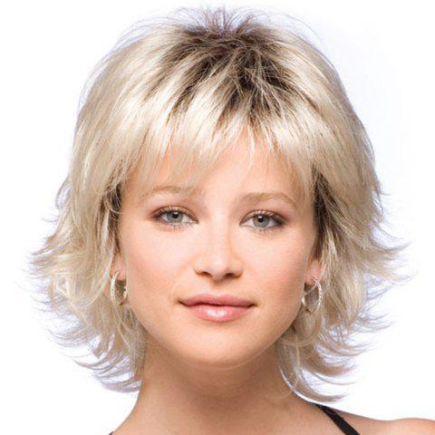 Unique Endearing Side Bang Slightly Wavy Short Synthetic Wig For Women