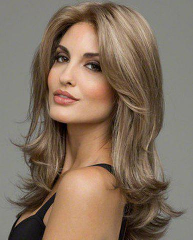 Unique Noble Glossy Natural Wave Capless Heat-Resistant Synthetic Wig For Women