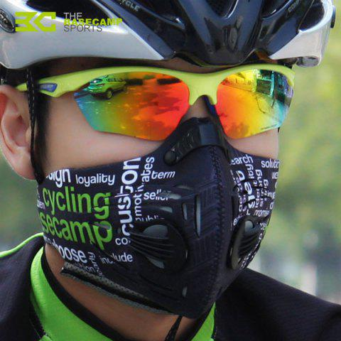 Hot BASECAMP One Size Outdoor Cycling Bicycle Ride Anti-PM 2.5 Respirator N99 Silicone Filter Leaf Face Mask Windproof / Dust Proof -   Mobile
