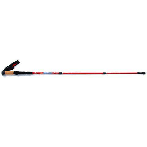 Hot Adjustable Wuxian Straight Shank Super Light Trekking Pole Carbon 80 Percent Mountaineering Pole for Outdoor Sports Fans - RED  Mobile