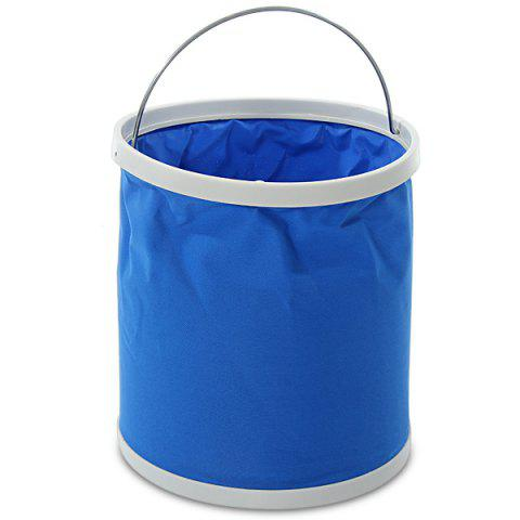 Fashion Portable Folding Bucket 11L for Outdoor Fishing / Car Washing / Hiking / Camping - BLUE  Mobile