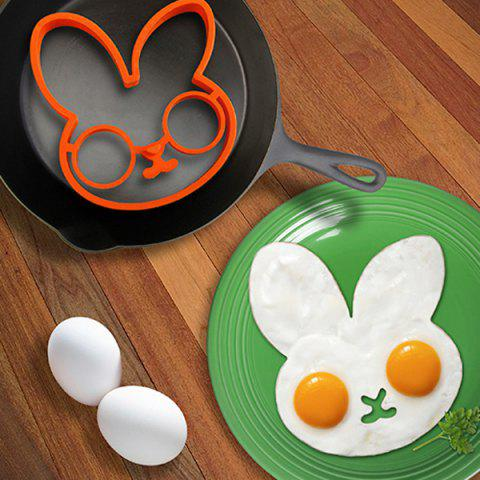 Store Cute Rabbit Silicone Egg Mold Ring Cooking Tools Fried Egg Kitchen Gadgets - ORANGE  Mobile