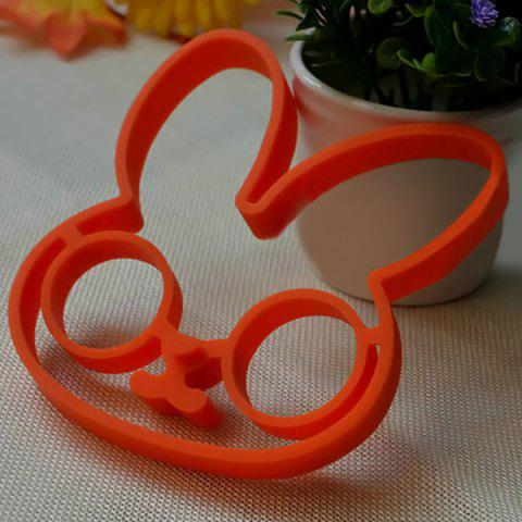 Shop Cute Rabbit Silicone Egg Mold Ring Cooking Tools Fried Egg Kitchen Gadgets - ORANGE  Mobile