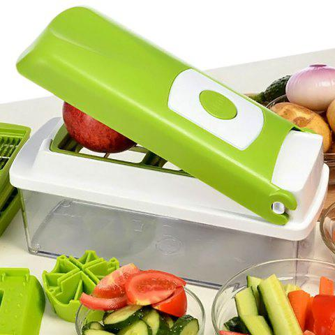 Outfits 12Pcs Vegetable Fruit Peeler Cutter Multi Chopper Slicer Fruit Kitchen Tools Set GREEN