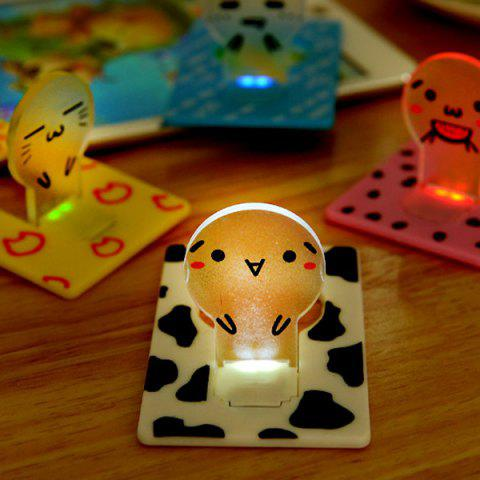 Mini LED Wallet Credit Card Light Portable Pocket Night Lamp Folding Bulb - White