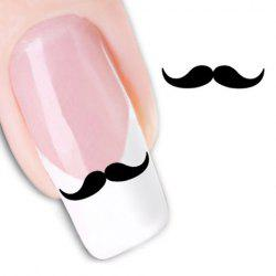One Sheet Attractive Black Mustache Pattern Water Transfer Printing Nail Sticker