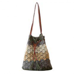 Fashion Weaving and Color Matching Design Women's Shoulder Bag -