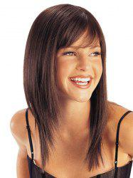 Fashion Elegant Side Bang Multi-Layered Long Soft Straight Capless Women's Synthetic Wig -