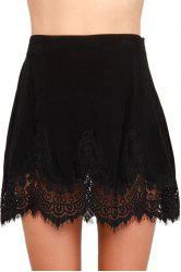 Black with Lace Women's Skirt -