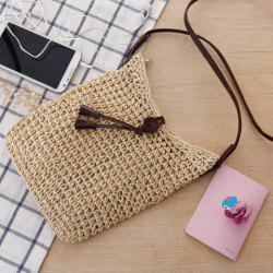 Fashion Tasssels and Weaving Design Women's Crossbody Bag -