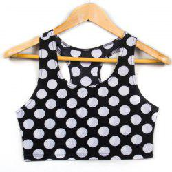 Trendy Scoop Neck Polka Dot Tank Top For Women -