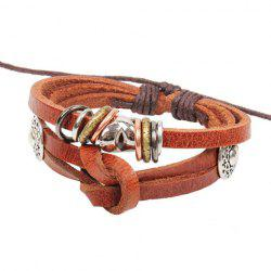 Knotted Faux Leather Chain Bracelet