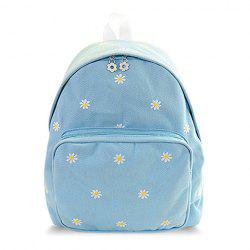 Sweet Flowers Pattern and Candy Color Design Women's Satchel -